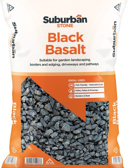 Black Basalt Chippings 20mm