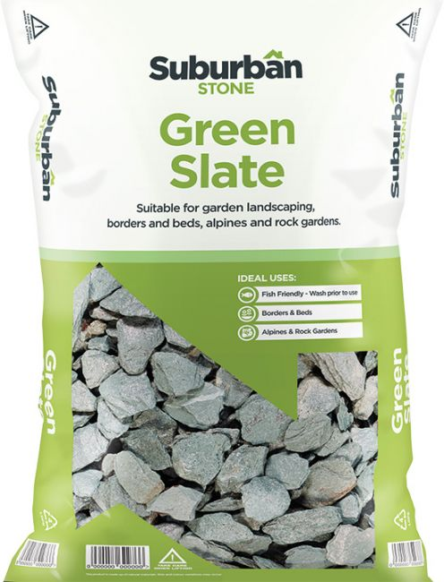 Green Slate Chippings 20 or 40mm